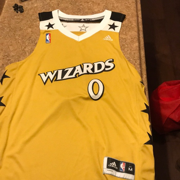 46dda73bb adidas Other - Gilbert Arenas Washington wizards gold jersey
